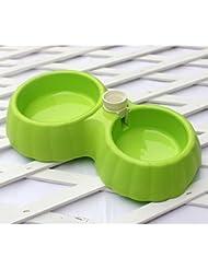 LIANPINGResbalón perro de agua recipiente automático riego plato doble mascota perro de resbalón del tazón de fuente tazones tazón de fuente del gato . d . small double bowl