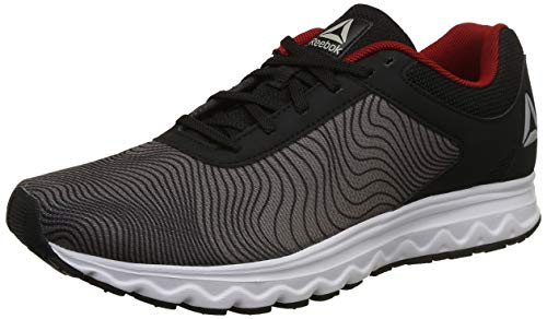 1. Reebok Men's Repechage Run Lp Blk/Ash Grey/Red Rush Shoes
