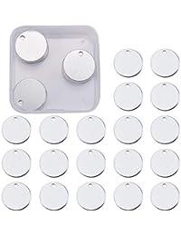 796d1c87ec44 BENECREAT 30 Pack Estampación en Blanco Colgantes en Blanco de Aluminio  para Pulsera Pendiente Colgante Etiqueta…