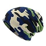 Amphia - Unisex Camouflage Schal Mütze Casaul Outdoor Cabrio Windproof Hats,Camouflage-Bedruckter, doppelt verwendbarer Hut mit Lätzchen(Navy)