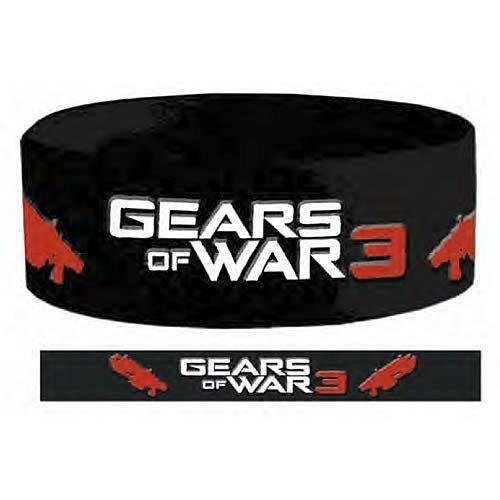 Gears of War Pulsera de Silicona de 3 títulos (Negro)