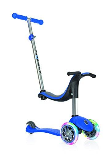 Globber niños de EVO 4-en-1con Light Up Ruedas Scooter, Infantil, EVO 4-in-1 with Light Up Wheels, Azul Marino, n/a