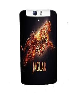 Fuson Jaguar Back Case Cover for OPPO N1 - D3675