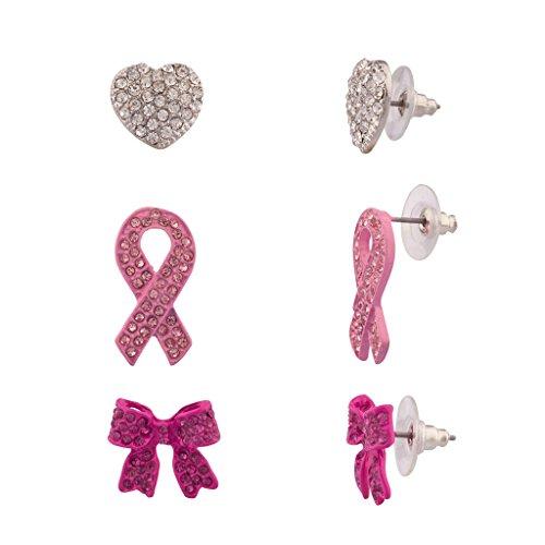Accesorios Lux contra cáncer mama Corazón cristal