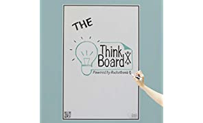 Think Board X Rocketbook Smart Stick-Up Whiteboard - 600x900mm - Turn Any Surface Into A White Board - Use Rocketbook App To Upload Notes To Cloud …