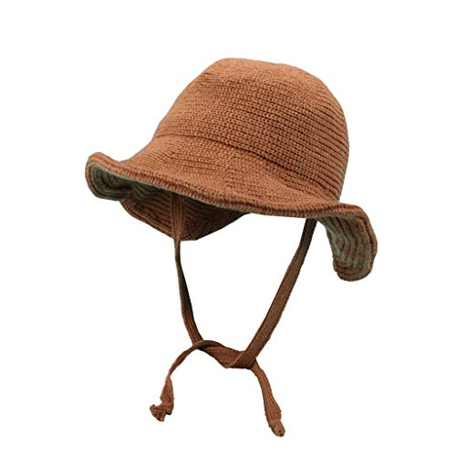 Nosterappou Un chapeau de pêcheur populaire en automne et en hiver, avec un design à ouverture arrière, un design simple, agréable à porter, un bonnet épais en maille mélangée, un bonnet de pêcheur la