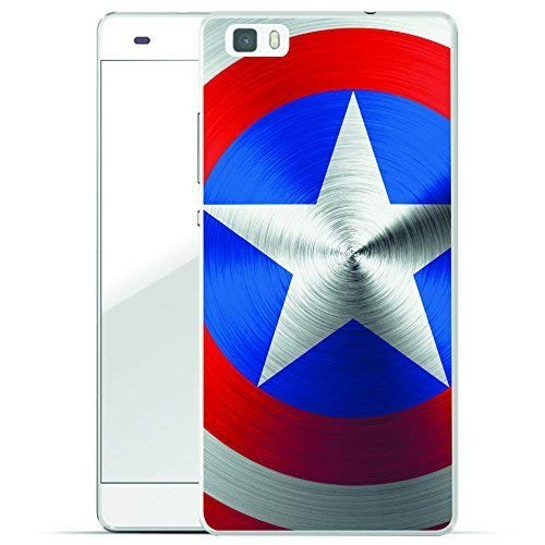 Finoo Huawei P8 Lite Hard Case Handy-Hülle mit Motiv | Dünne stoßfeste Schutz-Cover Tasche in Premium Qualität | Premium Case für Dein Smartphone| American Shield