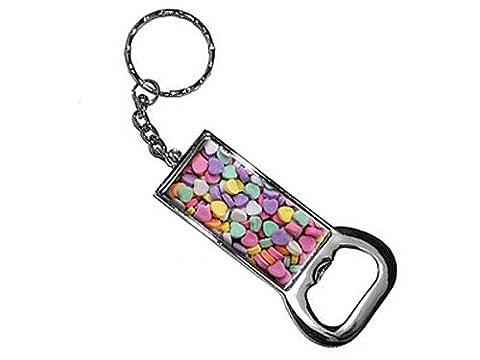 graphique et plus Bague Bottlecap Opener Porte-clés, Candy Hearts (Kk2000)