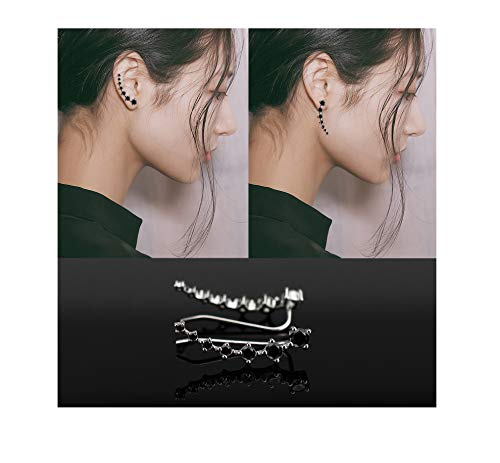 a9754d3f3 Ear Cuffs Climber Pendientes 7 Cristales 925 Sterling Silver Hypoallergenic  Bling Jewelry