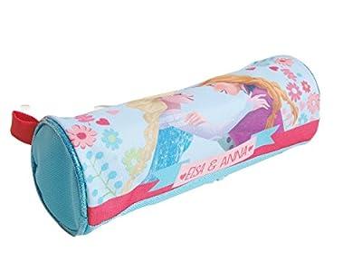 Disney Frozen Estuche Redondo con Lápiz, Cuaderno, Goma, Marqueurs, Lápices de colores,Hojas para colorear y Pegatinas de Disney