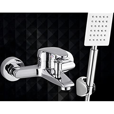 Miscelatore vasca/doccia doccia set doccia rubinetto doccia calda e fredda doccia valvola miscelatrice celati
