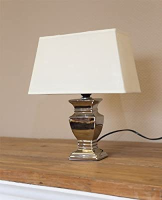 Tischleuchte Tisch-lampe Leuchte Tischlampe - Hhe 37 Cm Silber Beige - Neu von ESTO GmbH