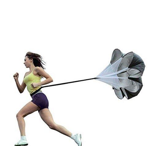 nnicebuty Speed Running Chute Fallschirm Fu?ball Training Widerstand Fallschirm Regenschirm f?r Running und Fitness Gewicht Core Krafttraining (Running Chute)