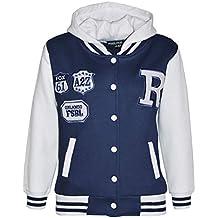 b15e975792c0 A2Z 4 Kids Enfants Filles Garçons Bleu Marine Designer R Fashion Baseball  Encapuchonné Top Vestes Manteaux