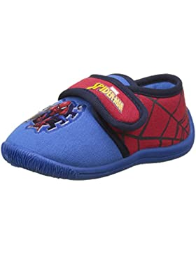 Spiderman Boys Kids Velcro Low Houseshoes, Zapatillas de Estar por casa para Niños