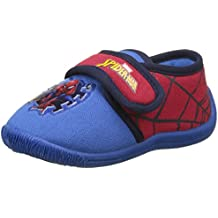 Spiderman Boys Kids Velcro Low Houseshoes, Zapatillas de estar Por Casa Para Niños