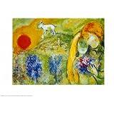 Reproduction d'art 'Amoureux De Vence', de Marc Chagall, Taille: 50 x 40 cm
