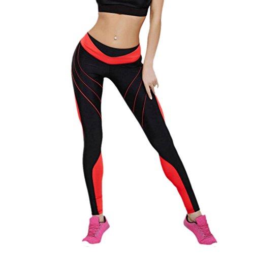 Mujeres Deportes Gym Yoga Entrenamiento Pantalones de correr de cintura media Fitness Leggings elásticos mallas mujer mallas running mujer★Longra