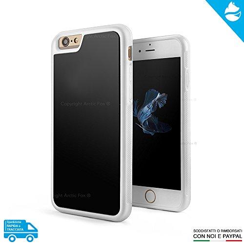ARCTIC FOX Case Cover Custodia Anti Gravity Gravità Selfie Magic Magica Rimane Attaccata Alle Superfici Lucide Colore BIANCO Per Apple iPhone 8 Plus Bianco