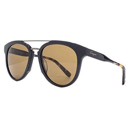 Salvatore ferragamo classic double bridge sunglasses in blue sf865s 414 55 55 brown blue
