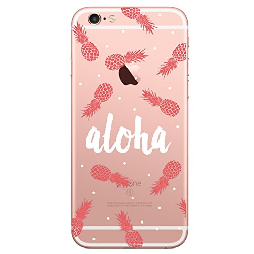 Teryei® Coque iPhone 6 6S Silicone Housse Transparente Étui Protection TPU Clair Cover Bumper Ultra Mince Souple Pour Flexible Simple Case Apple iPhone 6 6S 4.7 - Série simple (Ananas)