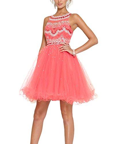 Bridal_Mall - Robe de mariage - Trapèze - Femme - lightcoral