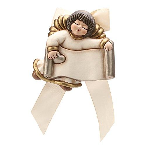 Thun angelo con targhetta ceramica 15 cm h
