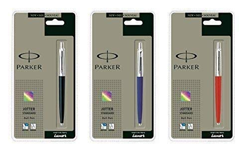 Parker jotter Parker Jotter 3 couleurs 1 Noir + 1 bleu + 1 rouge Stylo à bille fine encre bleue