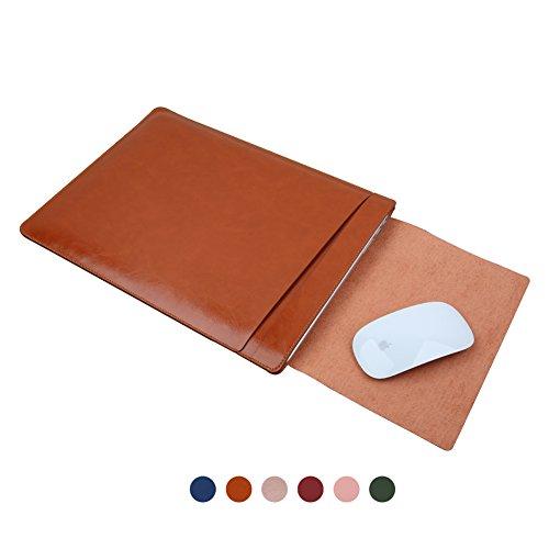 Hello Color Multifunktions-MacBook-Hülle für MacBook Air Pro Retina 11 12 13 15 Zoll Sleeve Cover Dual Pocket Design mit sicherer Innen- und Außenseite Mauspad braun braun 33.78 cm Dual Pocket Color