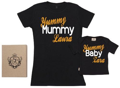 SR - dans une boîte cadeau - CUSTOM Yummy Mummy & Baby dans une boîte cadeau, Noir, L & 11-12 ans