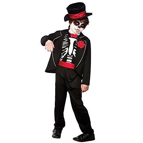 (Partypackage Ltd (M) Jungen TAG DER TOTEN Zombie Kostüm für Halloween Kostüm Outfit)