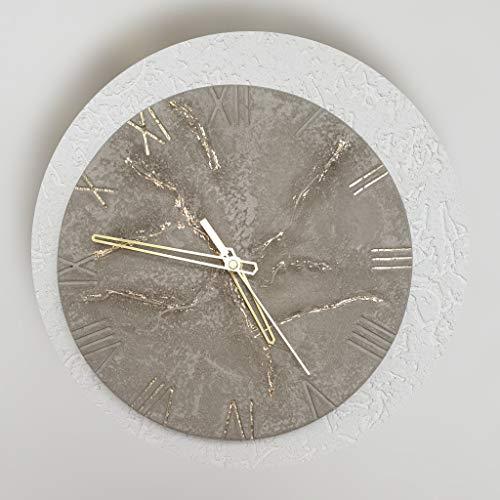 beton betonuhr Wanduhr uhr deko deco 27 cm architektonisch minimalistisch Wohnideen living