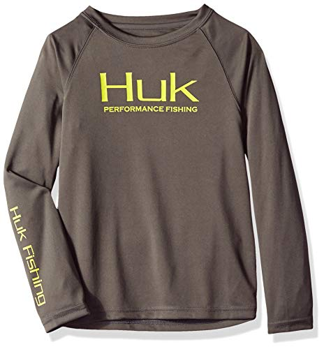 Angel Youth T-shirt (Huk Youth Performance Raglan Lange Ärmel, H7000004-010-YXL, Iron/SubPhantis Glacier, X-Large)