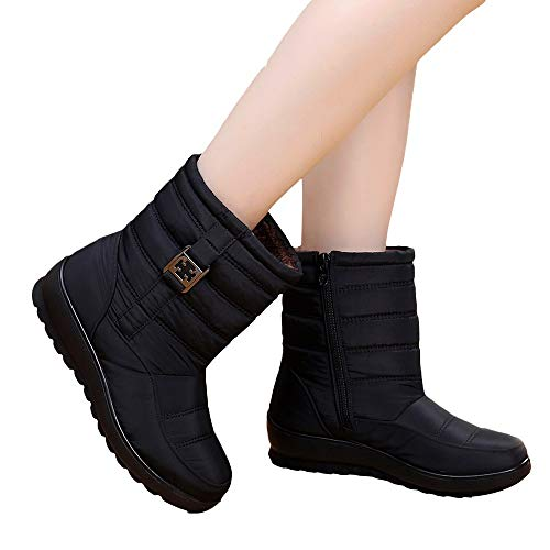ACMEDE Chaussures dhiver Gar/çon Filles Bottes de Neige dhiver Doublure Chaude Bottes de randonn/ée Bottes de Neige /Étanche Outdoor Winter Boots
