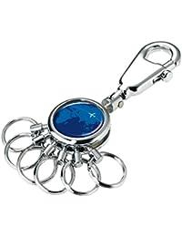TROIKA SCHLÜSSELHALTER – Schlüsselanhänger mit Karabinerhaken – 6 ausklinkbare Ringe zur Schlüsselorganisation – verschiedene Designs erhältlich - das Original von TROIKA
