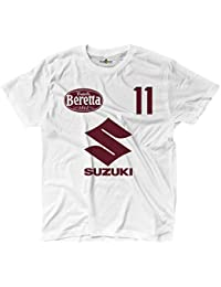 KiarenzaFD - Camiseta de fútbol Torino Simone Bomber Zaza 11, Color Blanco - KTS02393-