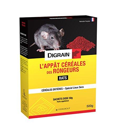 DIGRAIN L'appât Céréales des Rongeurs 500g / Rats - R7040