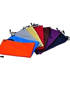 Wansan Bolsas de Almacenamiento para Gafas de Sol, 10 Unidades, con Cordón, Poliuretano, Impermeables, Bolsa de...