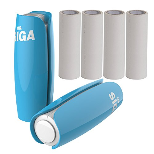 mr-siga-mini-portable-lint-roller-cloth-dust-remover-handle-with-plastic-cover-pack-of-2-each-pack-i