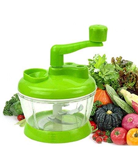 Flipco Kitchen 3.2-Cup/800ml Hand Crank Food Processor/Manual Food Chopper/Meat Grinder/Vegetable Di