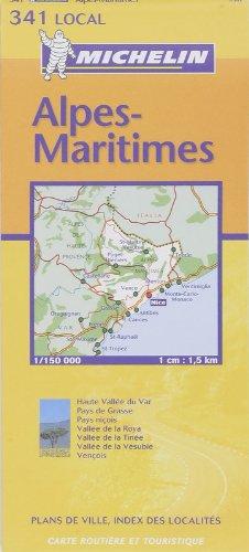 Carte routière : Alpes-Maritimes, N° 11341 par Cartes LOCAL Michelin