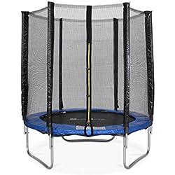 Trampoline Ø 180 cm - Cassiopée Gris - avec Son Filet de Protection - Trampoline de Jardin 2m | Qualité Pro. | Normes EU.