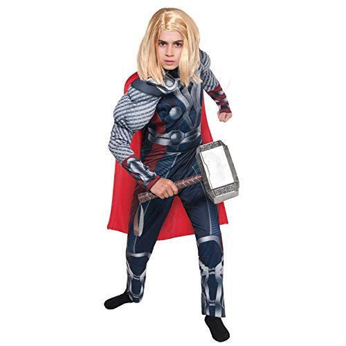 SEJNGF Kinder Jungen Avengers Onesies Superheld Cosplay Kostüme Raytheon Kostüm (Kein Hammer),Blue-L