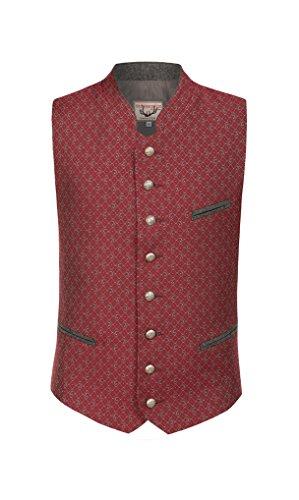 Stockerpoint - Herren Trachten Weste in Rot, Rico, Farbe:Rot, Größe:52