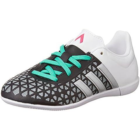 adidas Ace 15.3In, zapatos de fútbol de competición Unisex infantil, noir/argent mat/blanc,