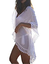 e272dcdf2d2c Gankarii - Beach Cover Up Womens Loose Beachwear Swimwear Bikini Cover-up  Beach Dress (