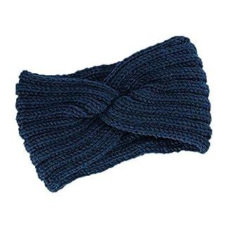 Amcool Damen Stirnband Desire Schleife Design Winter Kopfband Haarband Häkelarbeit