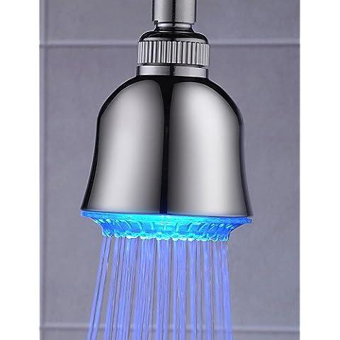 Luxury Classic 3 pollici Abs testa di doccia con luce LED a colore variabile CSÁSZÁR - Ottone 3 Pollici Casa Numero
