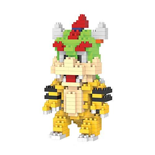 NiceButy niños los Juguetes del Bloque Nanoblock Tipo Micro Building Blocks for Serie de Mario Bros (Bowser Koopa) Juguete Divertido para los niños
