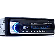 Yober Radio Coche Auto MP3 Bluetooth Manos Libres Estéreo AM FM In-Dash USB SD Reproductor Audio MP3 WMA APE FLAC WAV Pantalla LCD